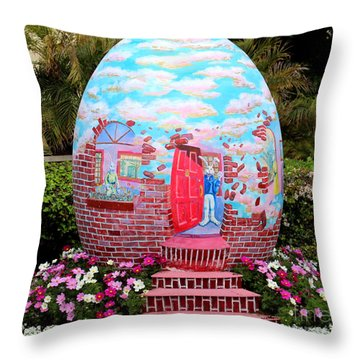 Home Sweet Egg Throw Pillow