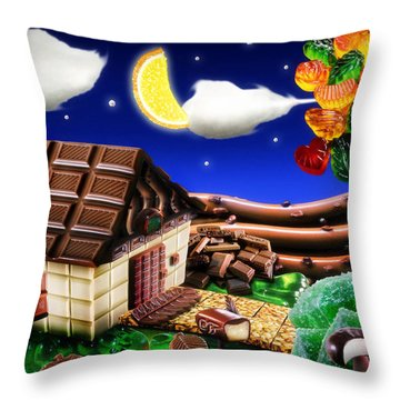 Home Sweet Home... Throw Pillow by Alessandro Della Pietra