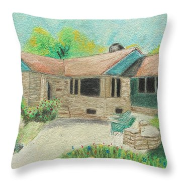 Throw Pillow featuring the painting Home Sweet Home by Jeanne Fischer
