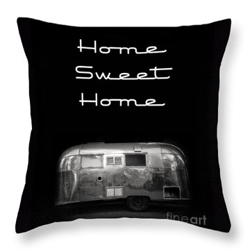 Home Sweet Home Vintage Airstream Throw Pillow