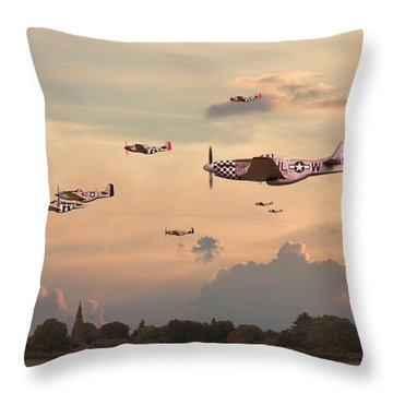 Home To Roost Throw Pillow by Pat Speirs