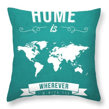Home - Turquoise Throw Pillow