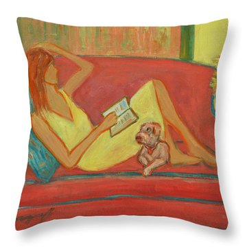 Home Where My Heart Is I Throw Pillow by Xueling Zou