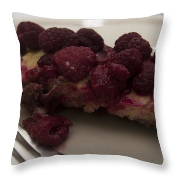 Throw Pillow featuring the photograph Homemade Cheesecake by Miguel Winterpacht