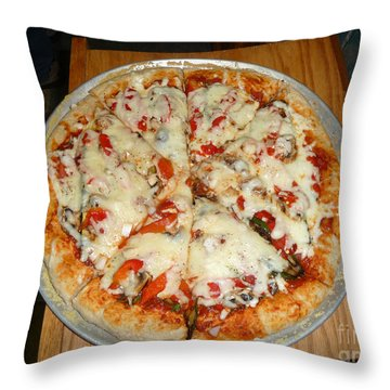 Homemade Pizza  Throw Pillow