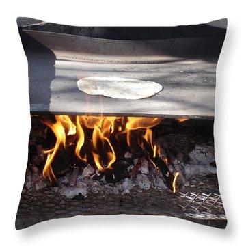 Throw Pillow featuring the photograph Homemade Tortillas by Kerri Mortenson