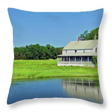 Homestead Throw Pillow by Charles Dobbs