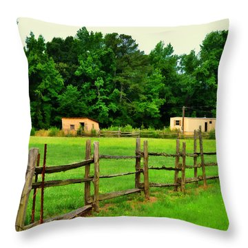 Homestead Throw Pillow by Paulette B Wright