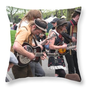 Homestyle Band Throw Pillow