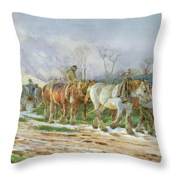 Homeward Bound Throw Pillow by Charles James Adams