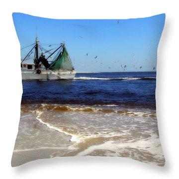 Homeward Bound Throw Pillow by Karen Wiles