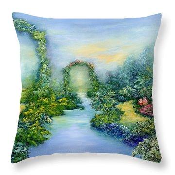Homeward Journey Throw Pillow by Hannibal Mane