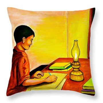 Homework Throw Pillow