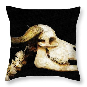 Throw Pillow featuring the mixed media Hommage A La Georgia by Sandy MacGowan