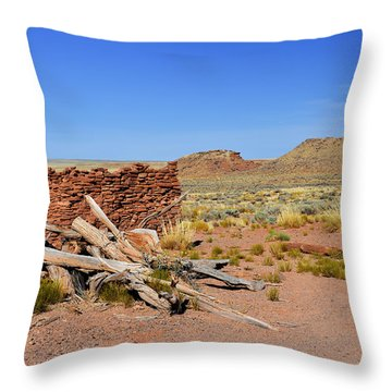 Homolovi Ruins State Park Arizona Throw Pillow by Christine Till