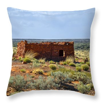 Homolovi Ruins State Park Az Throw Pillow by Christine Till