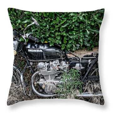 Honda 450 Motorcycle Throw Pillow