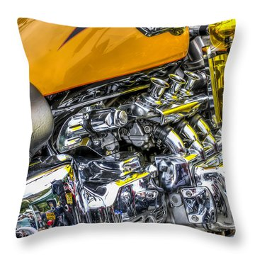 Honda Valkyrie 3 Throw Pillow by Steve Purnell