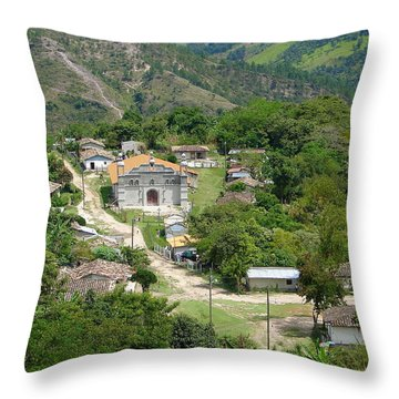Honduras Mountain Village Throw Pillow