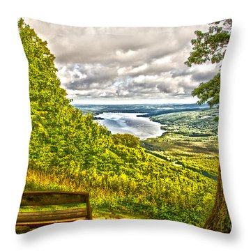Throw Pillow featuring the photograph Honeoye Lake Overlook by William Norton