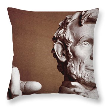 Honest Abe Throw Pillow