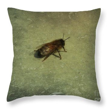 Throw Pillow featuring the photograph Honey Bee by Kristine Nora