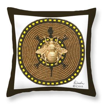 Honey Bee Turtle Throw Pillow