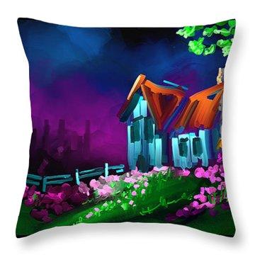 Honey I Am Home Throw Pillow by Steven Lebron Langston