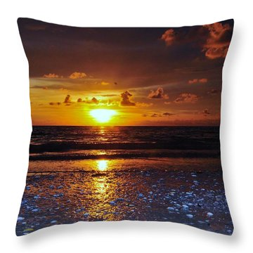 Honey Life Sunset Throw Pillow