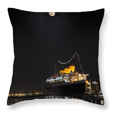 Honey Moon Reflects With The Queen By Denise Dube Throw Pillow