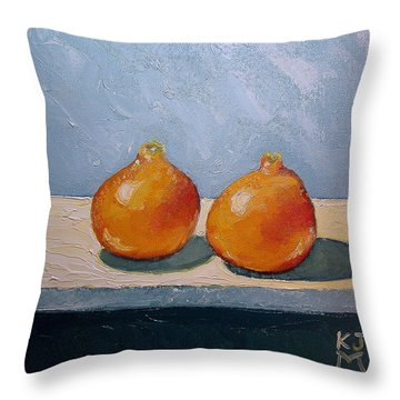 Honeybells - The Perfect Couple Throw Pillow by Katherine Miller