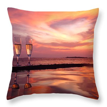 Honeymoon - A Heart In The Sky Throw Pillow
