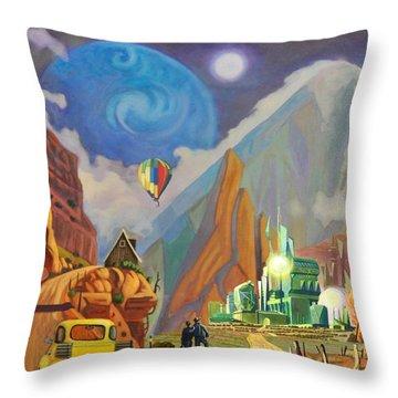 Honeymoon In Oz Throw Pillow