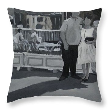 Honeymoon On Main St. Throw Pillow