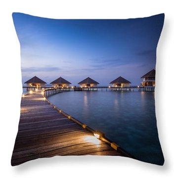 Honeymooners Paradise Throw Pillow