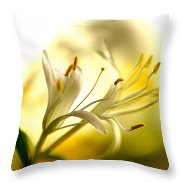 Honeysuckle Throw Pillow
