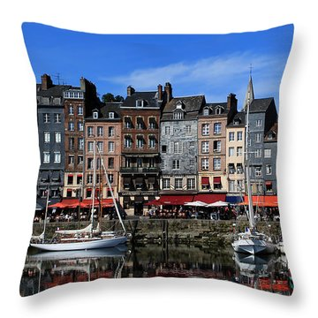 Honfleur France Throw Pillow