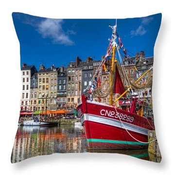 Honfleur Normandy Throw Pillow by Tim Stanley