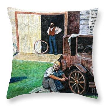 Hong Hing Mural Detail Throw Pillow by RicardMN Photography