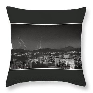 Hong Kong 1987 Throw Pillow by Bob Hislop