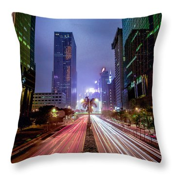 Throw Pillow featuring the photograph Hong Kong Highway by Robert  Aycock
