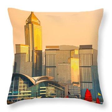 Hong Kong. Throw Pillow by Luciano Mortula