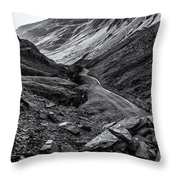 Honister Pass From The Slate Mine Throw Pillow