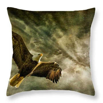 Honor Bound In Blue Throw Pillow