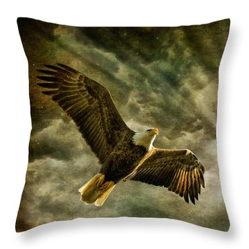 Honor Bound In Blue Throw Pillow by Lois Bryan