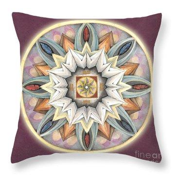 Honor Mandala Throw Pillow