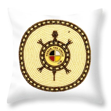 Honor The Circle Throw Pillow