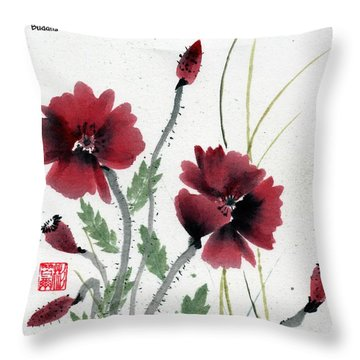 Throw Pillow featuring the painting Honor With Buddha Quote I by Bill Searle