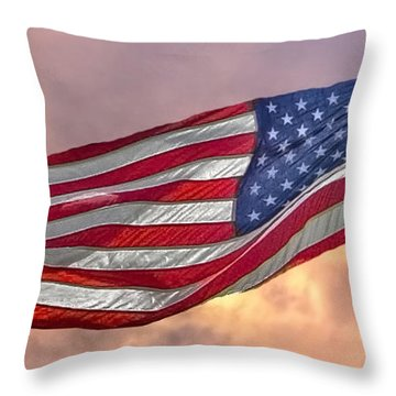 Throw Pillow featuring the photograph Honoring The Heroes  by Charlotte Schafer