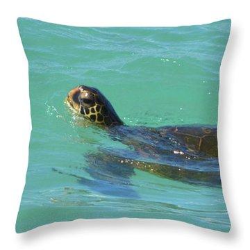Honu II Throw Pillow